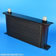 Universal Black 19 Row Oil Cooler AN10 -10 Differential Transmission Engine Oil
