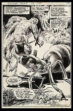 Swamp Thing #14 Original Splash Art by Nestor Redondo 1975