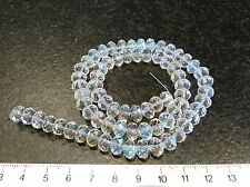 25 AB CLEAR FACETED GLASS CRYSTAL RONDELLE BEADS PERLES CRISTAL 6 x 8mm 6x8mm