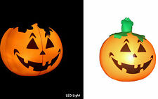 "Pumpkin Halloween Inflatable Light Up (LED) 10"" wide -really safe for kids/night"