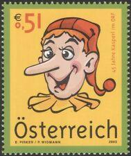 """Austria 2003 Kasperl/PUPAZZO/""""Confetti""""/cartoni animati/TV/ANIMAZIONE/libri 1v (at1159)"""