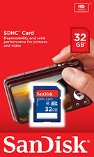 SanDisk 32GB SD 32G SDHC Class 4 C4 SD Camera memory card SDSDB-032G **Retail