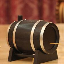 Creative Barrel Automatic Toothpick Box Woodpicker Dispenser Holder Appetizer L