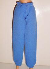 Barbie vêtement vintage pantalon de sport jogging jersey bleu,trousers
