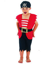 Cute Toddler Pirate Boy Fancy Dress Costume - Age 18 Months - 3 Yrs - New