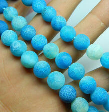 New 10mm Blue Dream Agate Round Gemstone Loose Beads 15""