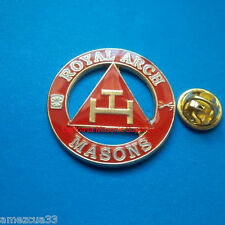 Freemasonry York Rite Delux Royal Arch Masons Large Pin 1.25""