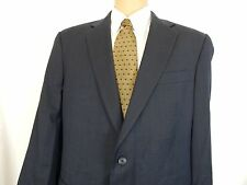 HART SCHAFFNER MARX BLUE PLAID 2 BUTTON MENS SUIT 2 Vents 44R