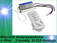 2 Kanal Wireless Lichtschalter Funkschalter Wandschalter Fernbedienung Sleep Fun