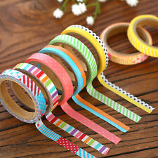 6Pcs Washi Paper Tape Decorative Scrapbooking Sticky Paper Masking Tape Adhesive