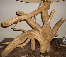 HEAVY THICK LARGE DRIFTWOOD ORGANIC LAMP NAKASHIMA JERE ERA ONE OF A KIND