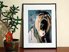 Pink Floyd Dog Watercolor - A4 Poster - FREE Shipping