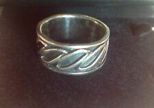 Solid sterling silver 925 Celtic infinity thumb ring band size R-S gift boxed