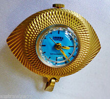 VTG Retro DRIMEX Antimagnetic Turquoise face gold tone case Watch Pendant