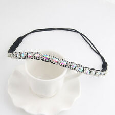 Bling Rhinestone Headband Gliter Beads Elastic Hair Band Women Hair Jewelry
