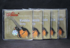 5 Sets High Quality Alice Steel Silver-Plated Coated Copper Mandolin Strings