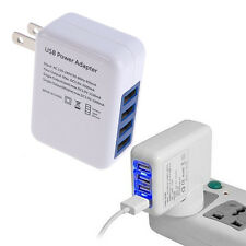 White 2.1A 4 Port USB Portable Home Travel Wall Charger US Plug AC Power Adapter