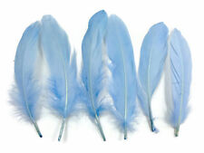 USA SELLER - Goose Feathers, Baby Blue Goose Satinettes loose feathers - 0.3 Oz.