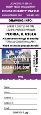 Win a House /Cash for $25/ ticket donation to Children Hospital