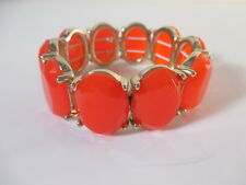 J.Crew gold-plated oval stone stretch bracelet Red NWOT $32.50 item 63323