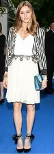 Olivia Palermo ZARA Black and White Striped Jacket Blazer Size M