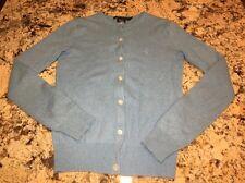 Ralph Lauren Blue Label 100% Cashmere Woman's Cardigan Size XS EUC Blue