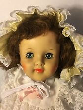 "1953 Eegee Susan Stroller 29"" Crier Doll Sunday Wedding Dress Beauty Excellent"