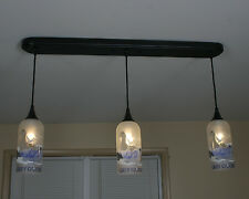 Upcycled Grey Goose Hanging Pendant Lamp made from bottles