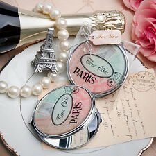 16 Pretty Paris themed mirror compact favor Bridal Shower Birthday Party Favors