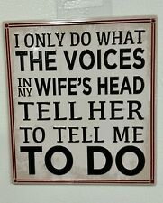 I Only do what Voices My Wifes head tell me magnet HARLEY DAVIDSON Indian SnapOn