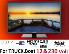 "19"" 12V LED HD Digital TV 12 VOLT 230 V. BOAT, CARAVAN ,HGV TRUCK DivX, MPEG-4"