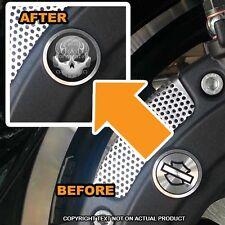 Brembo Front Brake Caliper Insert Set For Harley - FLAME SKULL - 087