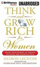 THINK AND GROW RICH FOR WOMEN unabridged audio book on CD by SHARON LECHTER