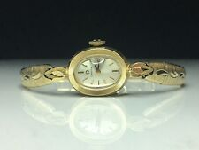 Omega Ladies Wrist Watch AA 5828 14k Gold L&W Case Kreisler Band 17 Jewel 14.9g