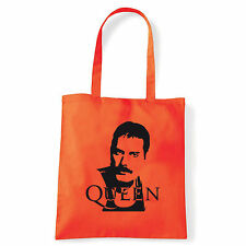 Art T-shirt, Borsa shoulder Queen Freddy Mercury, Arancio, Shopper, Mare