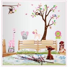 Animales De La Selva Mono, Un Elefante Infantil Dormitorio Baño árbol pegatinas de pared