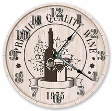 """10.5"""" WINE FOR TWO CLOCK - Large 10.5"""" Wall Clock - Home Décor Clock - 3007"""