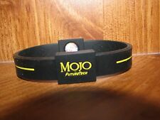 "8"" Mojo Holographic Wristband BLACK / YELLOW"