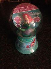 New Disney The Little Mermaid Glitter Snow Globe Bubble Bath