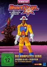 BRAVESTARR - THE COMPLETE TV SERIES - EPISODES 1 - 65 + PILOT FILM 4 DVD Box Neu
