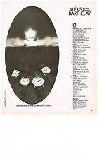 PUBLICITE  1977   ALEXIS BARTHELAY  collection montres
