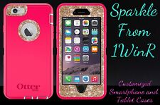 "Glitter Customized Otterbox Defender Case For 5.5"" iPhone 6 Plus Pink/Gold"