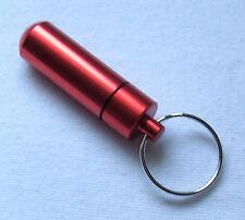Schlüsselanhänger Pillendose rot Snuffbox Pillenbox Medikamentendose