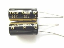 680uf 25v 105c LOW ESR  Size 20mmx10mm Panasonic EEUFM1E681 x2pcs