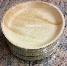 Palmblatt Teller rund 25 cm 25 Stück, kompostierbar, Party, Einweggeschirr