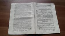 1793 Gazeta de Madrid Núm 16 Viernes 22 Febrero Varsovia Dublin Torino Lisboa...