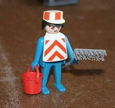 Playmobil personnage éboueur seau balai benne à ordures 3470 ref hh