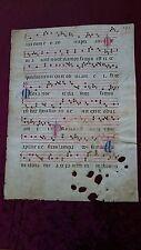Antiphonar foglio manoscritto su pergamena grafia Italia settentrionale 1470 #87