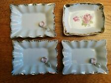 Delicate vintage china hand-painted dish from Japan- 4 pieces