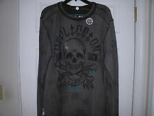 (SALE)AFFLICTION REVERSIBLE THERMAL,XXL,2XL,AWESOME SHIRT,NWT,SAVE BIG!!